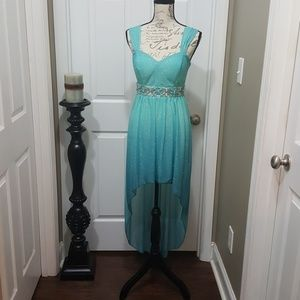 Formal high low glistening Sparkle dress